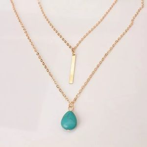 🆕 Turquoise Bar Layer Necklace